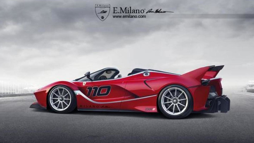 Ferrari FXX K rendered without a roof