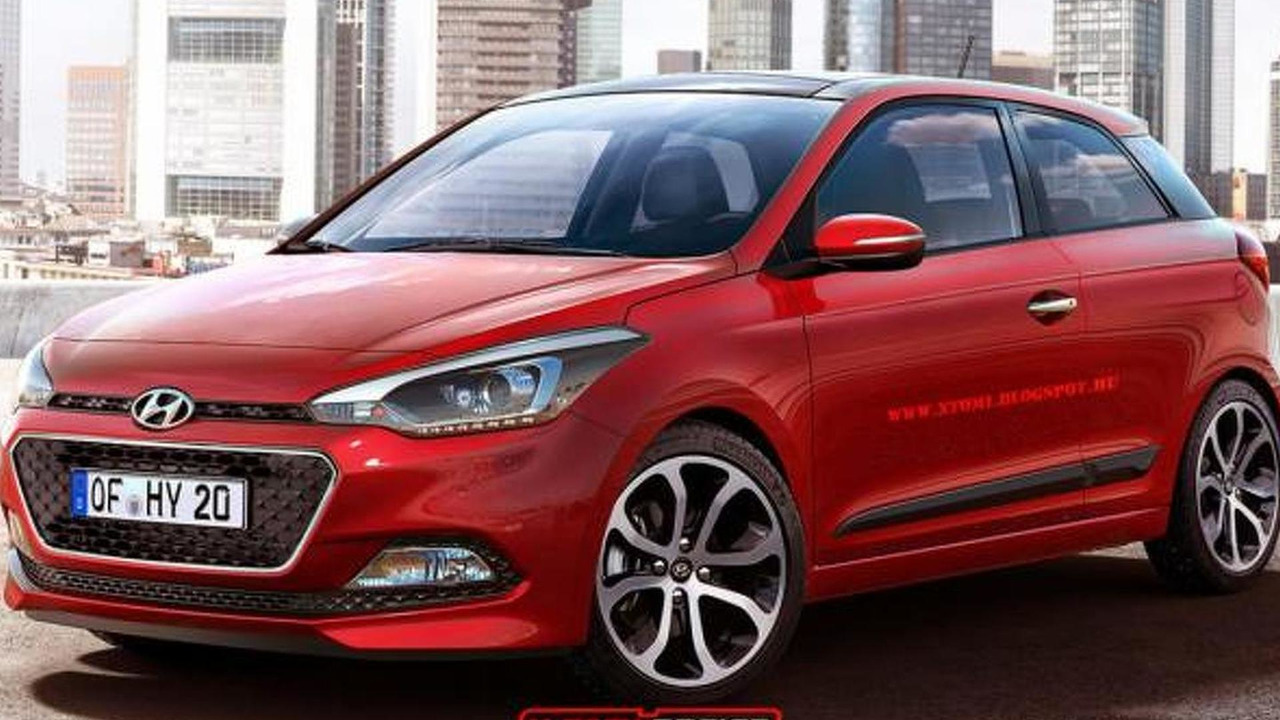 2015 Hyundai i20 three-door render
