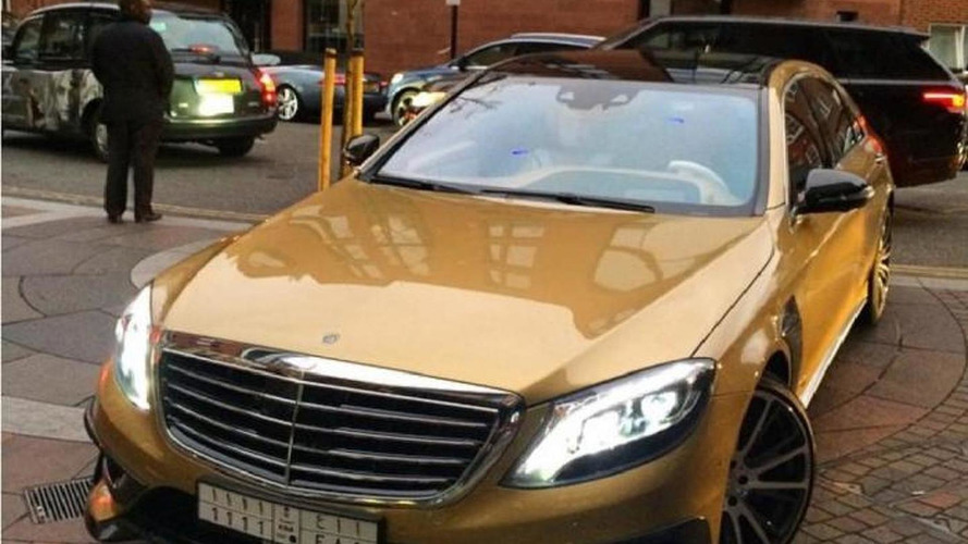 Gold Mercedes-Benz S63 AMG by Brabus seen in London