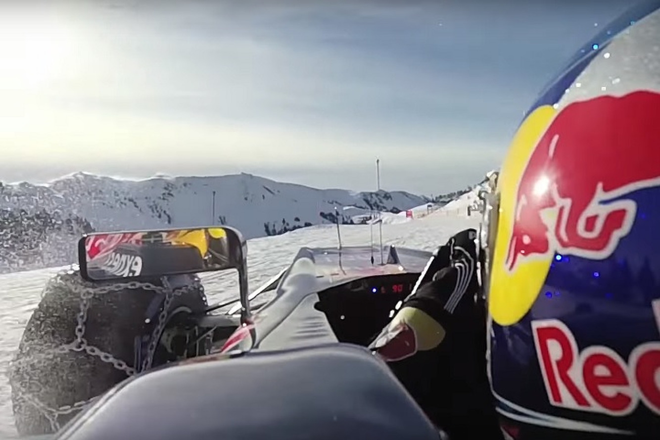 Authorities Take Issue With Red Bull Driving an F1 Car on a Ski Slope