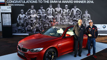 BMW M4 Coupe for 2014 MotoGP best qualifier Marc Marquez