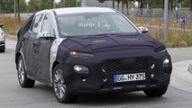 Hyundai's Juke fighter spied with unconventional headlights