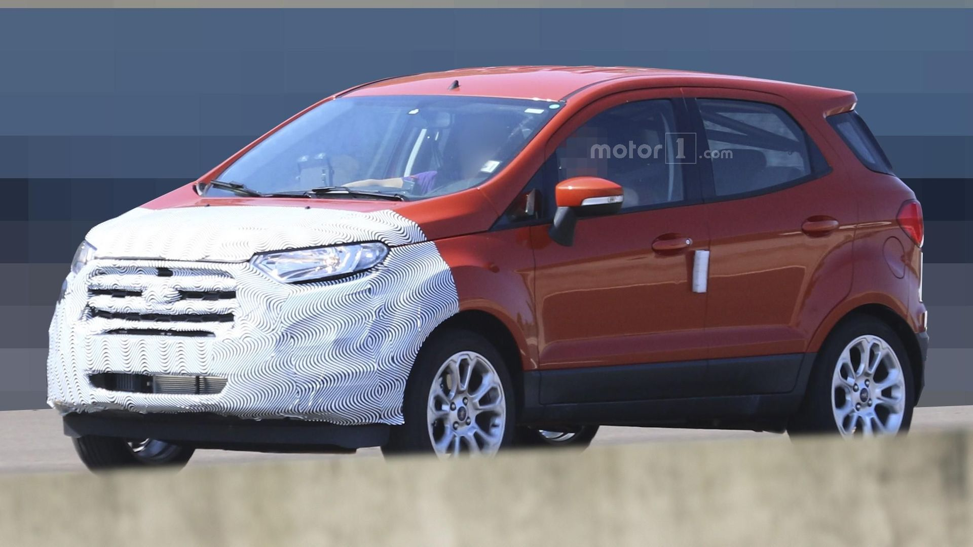 ford ecosport facelift spied in europe ahead of 2017 launch. Black Bedroom Furniture Sets. Home Design Ideas