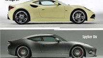 Artega GT (up) and Spyker B6 (down)