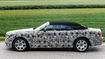 Rolls-Royce Dawn spied showing off undisguised soft top