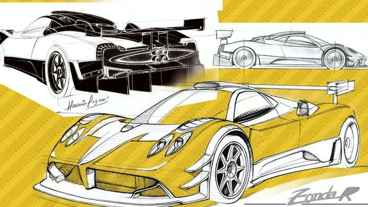 Pagani Zonda R design sketches, 800, 24.10.2008