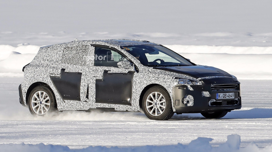 2018 Ford Focus prototype, aka 'Paul,' spied ice skating