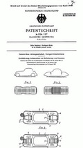 Patent for the crumple zone: Patent No. DBP 854 157