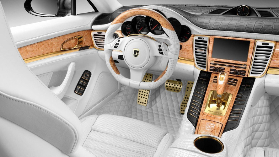 TopCar restyles Panamera Turbo S with crocodile leather and real gold