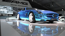 Mercedes SLS AMG Electric Drive at 2013 Goodwood Festival of Speed 12.7.2013