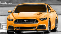 2015 Ford Mustang rendered based on latest spy shots