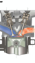 Combustion chamber of the 3.8L engine