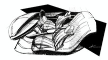 Mazda Senku Interior sketch