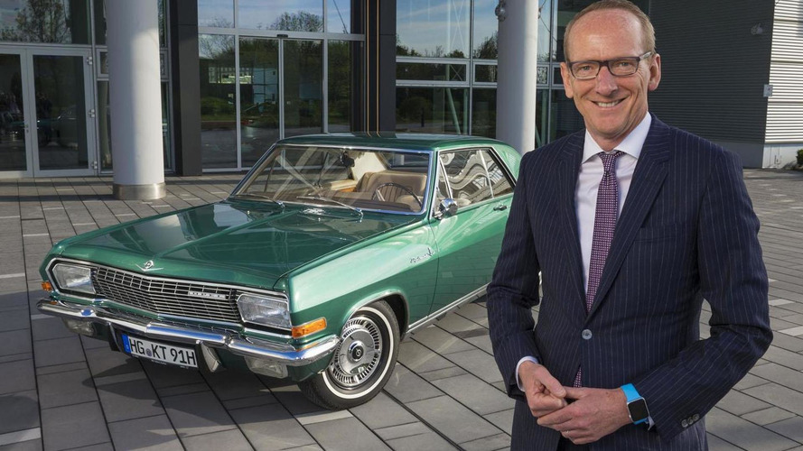 Opel CEO Karl-Thomas Neumann  shows off his Diplomat A V8 Coupe