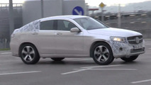 Mercedes-Benz GLC Coupe spied in motion testing plug-in hybrid setup [video]