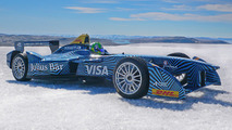 Formula E car visits Arctic Circle to raise awareness of global warming