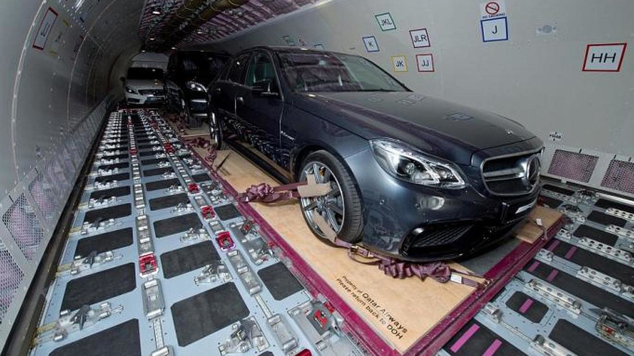 Mercedes-Benz E63 AMG in Qatar Airways Cargo A330-200F