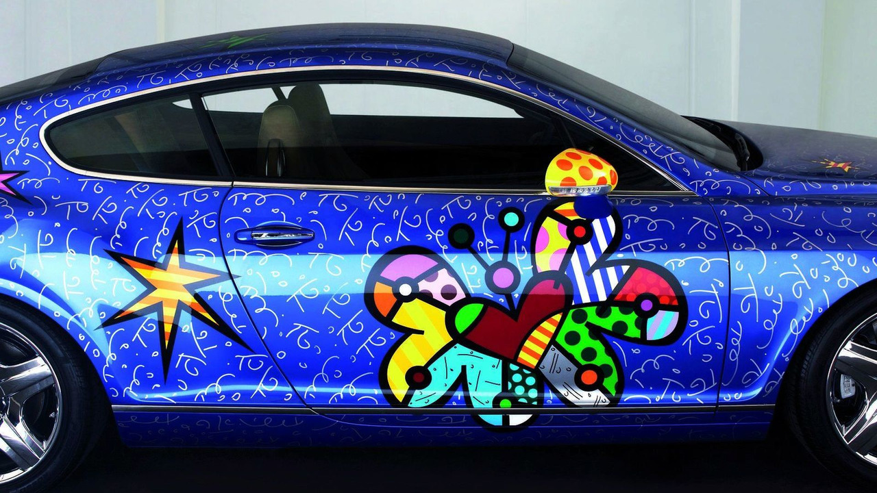Britto Bentley Continental GT pop art