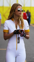Renault girl in the paddock - Formula 1 World Championship, Rd 6, Monaco Grand Prix