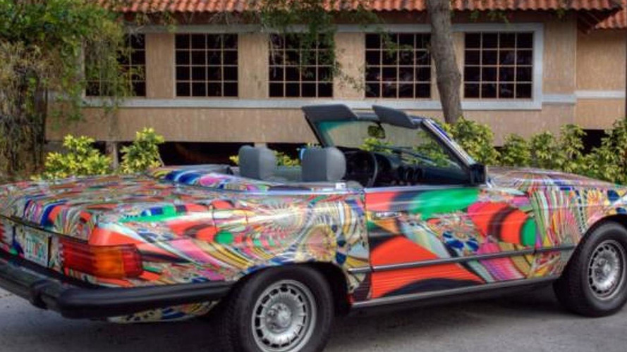 1982 Mercedes-Benz 380 SL 'Psychedelic Drive' heading to New York Auto Show