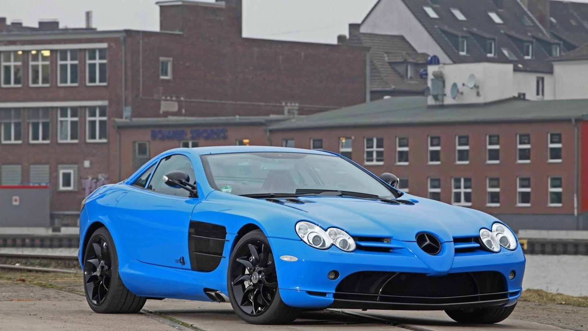 Mercedes-Benz SLR gets foil wrap and power boost