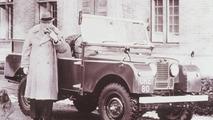 Winston Churchill with Orginal Land Rover Series I
