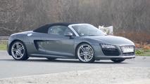 2013 Audi R8 Spyder facelift spied undisguised