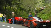 Koenigsegg Agera R and McLaren P1 during Need for Speed movie filming