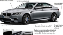 BMW M5 30th anniversary edition leak