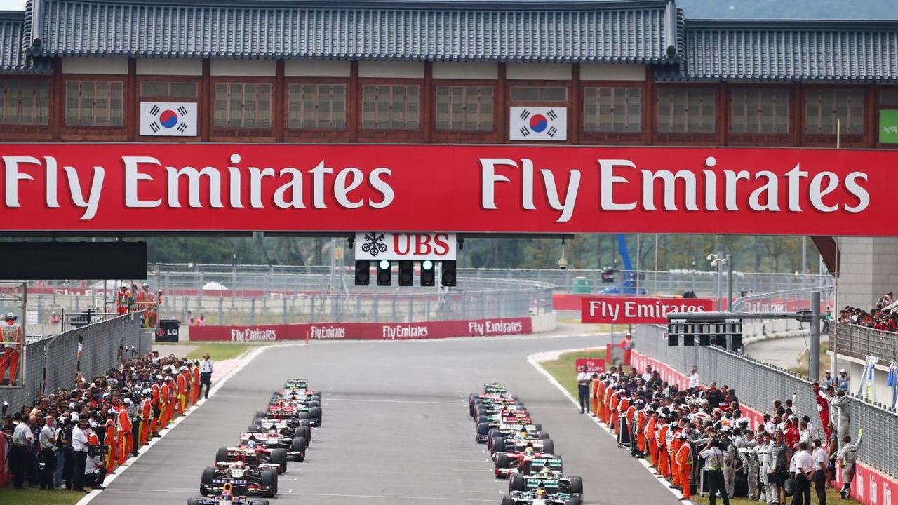Formation lap 06.10.2013 Korean Grand Prix