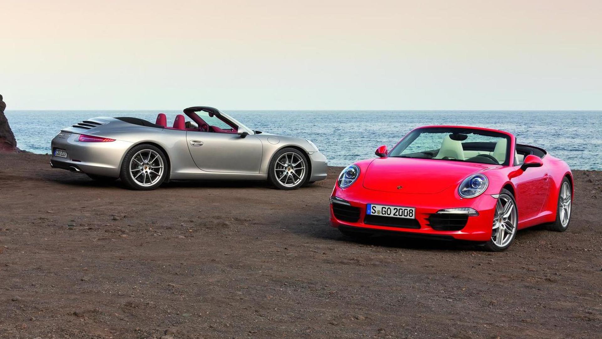 2013 Porsche 911 Cabrio reconfirmed for Detroit unveiling [video]