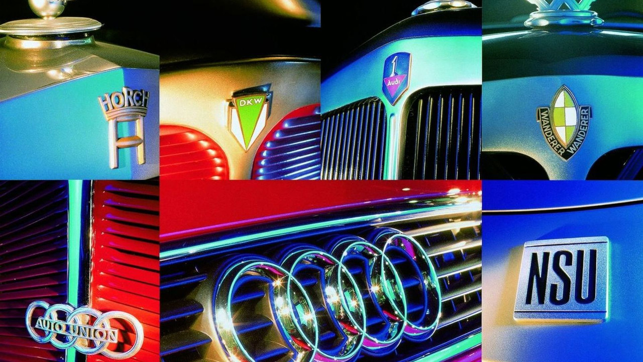 The origins of the company: the marques Audi, DKW, Horch, Wanderer, Auto Union and NSU.