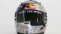 Sebastian Vettel helmet design, Red Bull, 11.02.2010