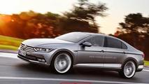 Next-generation Volkswagen Passat CC gets rendered