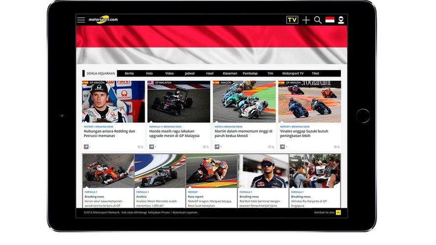 Motorsport.com expands global readership with the launch of Motorsport.com - Indonesia