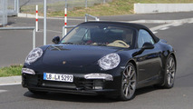 2012 Porsche 911 Cabrio spied undisguised 20.09.2011