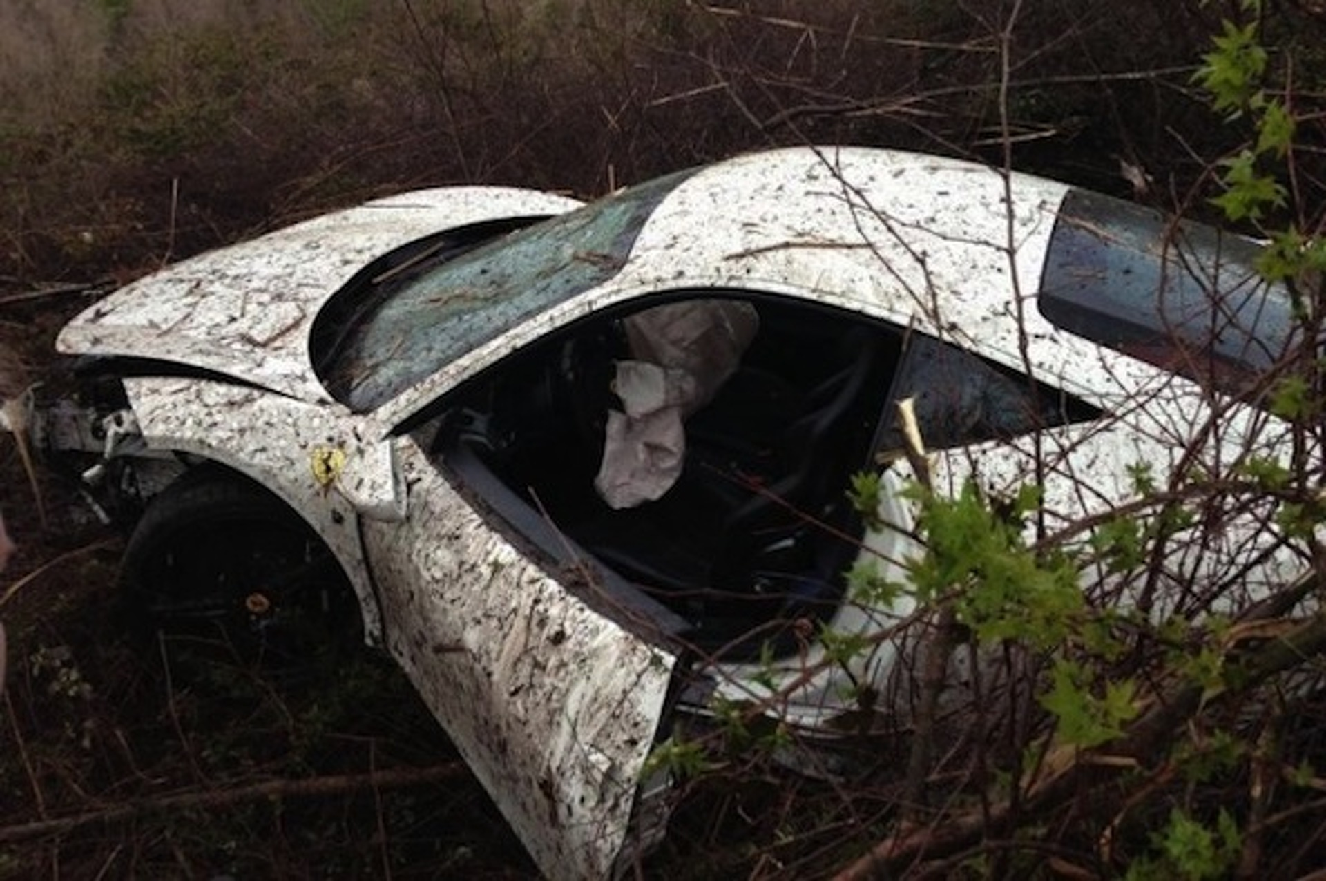 Underground Racing Ferrari 458 Wrecked at Amelia Island Airport