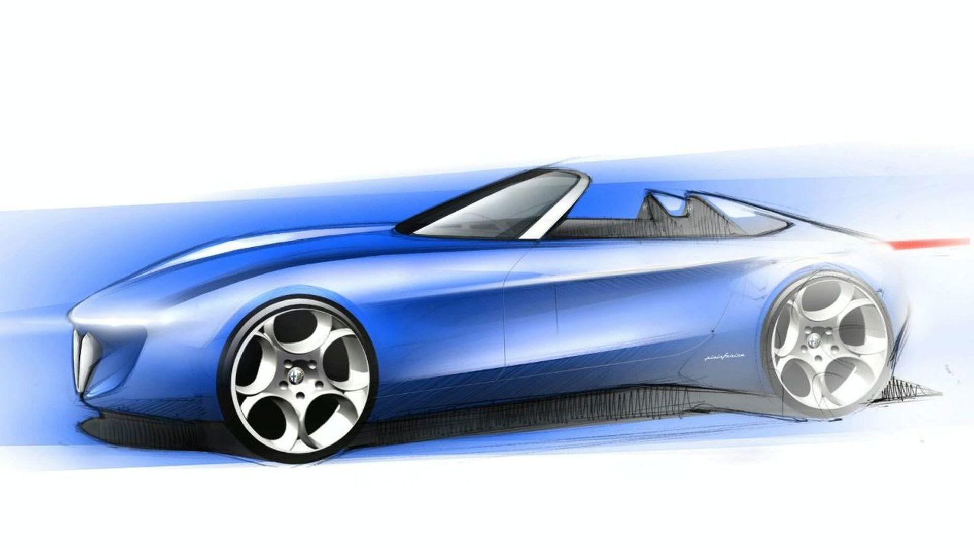 Pininfarina Teases Alfa Romeo Spider Concept Sketch for 2010 Geneva Debut