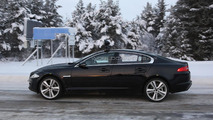 2016 Jaguar XF test mule spied with longer wheelbase near the Arctic Circle