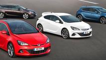 New-look Vauxhall Astra Range: GTC BiTurbo, Astra VXR, Astra Hatch, Astra Sports Tourer