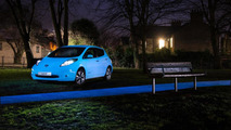 Nissan Leaf with glow-in-the-dark paint