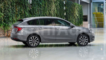 Fiat Tipo wagon render sees into the future