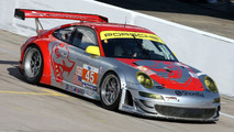 911 GT3 RSR, Flying Lizard Motorsports: Jörg Bergmeister, Patrick Long, Marc Lieb, American Le Mans Series, round 1 in Sebring, USA, qualifying, 19.03.2010