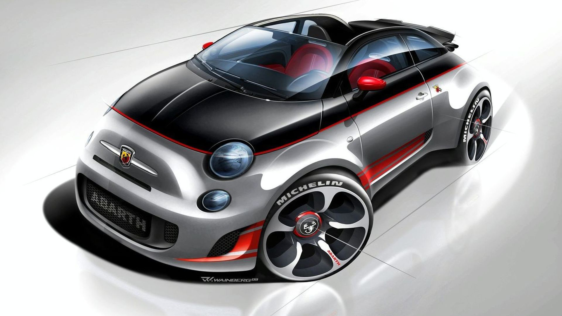 Abarth 500 Speedster more details surface