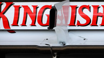 Force India remove blown diffuser after Hungary test