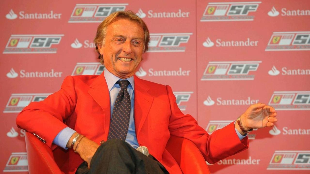 Luca di Montezemolo (ITA) Ferrari President announces a five year partnership for Santander with the Ferrari team, Italian Grand Prix, Monza, Italy, 10.09.2009