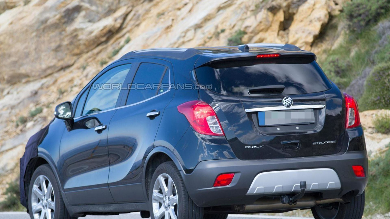 Buick Encore Facelift spy photo