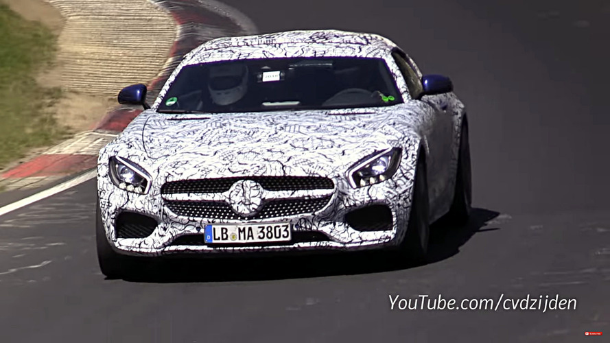 2017 Mercedes-AMG GT C Roadster filmed testing on the Nurburgring