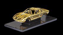 24 carat gold Lamborghini Miura sculpture revealed