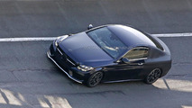 Mercedes C-Class Coupe spied with less disguise